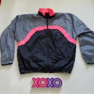NIKE colorblock full zipper XLT windbreaker jacket
